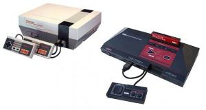 Consola de cartuchos y consola de cassetes de los 80 y principios de los 90
